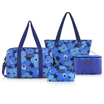 Conjunto Jacki Design de Bolsa de 4 Pçs Abc17353-Az Azul Unico