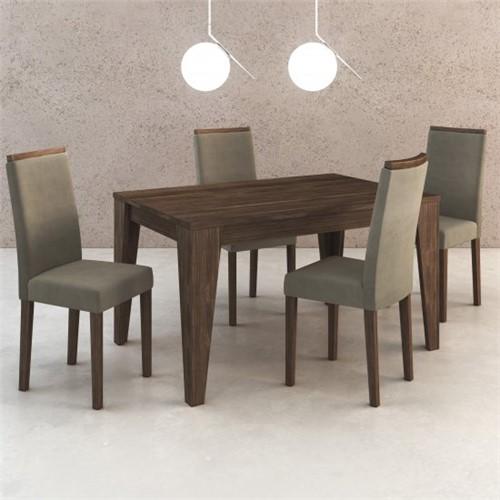 Conjunto Jantar de Mesa e 4 Cadeiras CJ1000 - Tecno Mobili | Elare