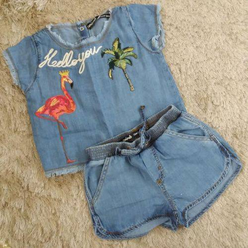 Conjunto Jeans Patches Animê