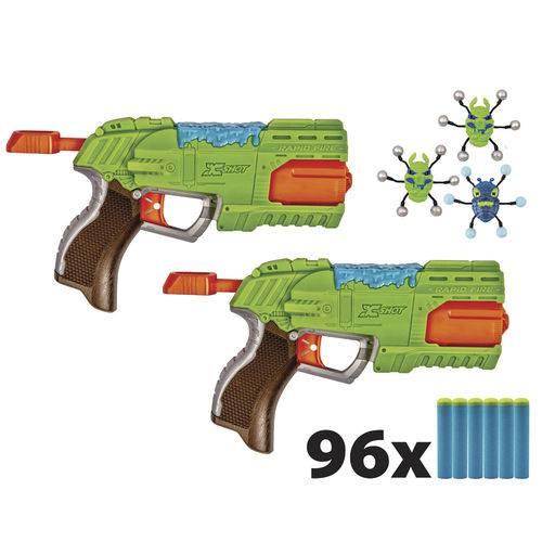 Conjunto Lançadores e Alvos - Bug Attack - Rapid Fire - Candide