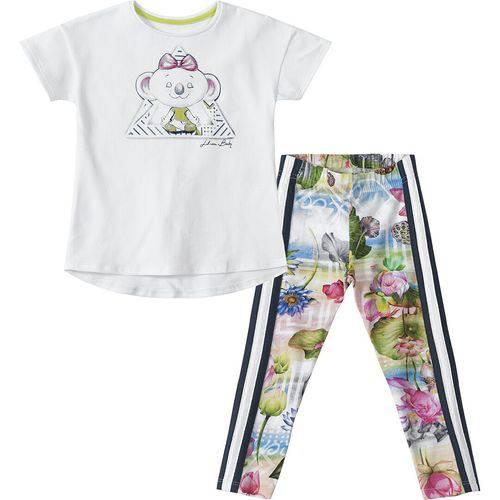 Conjunto Lilica Ripilica Baby Blusa e Legging Branco