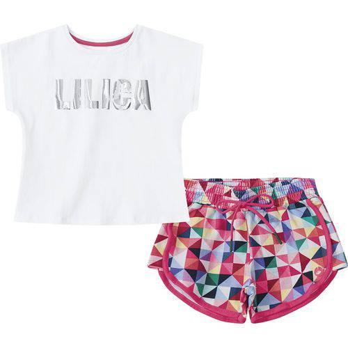 Conjunto Lilica Ripilica Baby Blusa e Short Branco