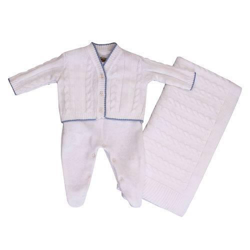Conjunto Maternidade Tricot 3 Peças Branco