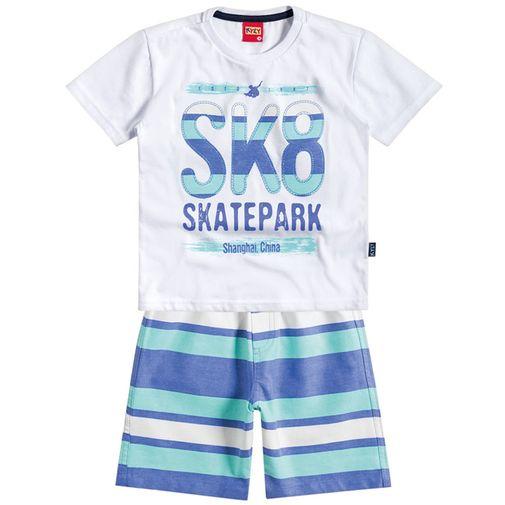 Conjunto Menino Skate Park Branco - Kyly 1