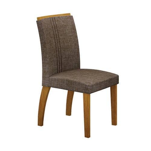 Conjunto Mesa Alemanha 1,80x0,90m com 6 Cadeiras Linho Marrom Imbuia/branco/imbuia Vidro Branco
