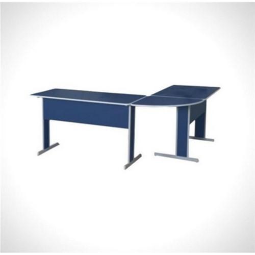 Conjunto Mesa para Escritório Linha Basic Azul Pethiflex