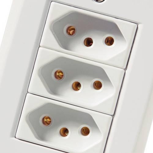 Conjunto Montado Lux² 4x2 - 3 Tomadas 2P+T NBR 14136 10A - 250V~ (afastadas) - Branco - Tramontina