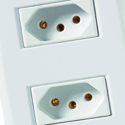 Conjunto Montado Lux² 4x2 - 2 Tomadas 2P+T NBR 14136 10A - 250V~ (afastadas) - Branco - Tramontina