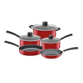 Conjunto Panela Alumínio 5 Pçs Versalhes Vermelha 20699/742 Tramontina