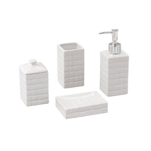 Conjunto para Banheiro Space 4 Pecas Branco