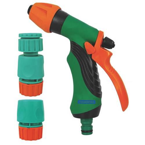Conjunto para Irrigação 4 Peças com Engates Rápidos e Hidropistola