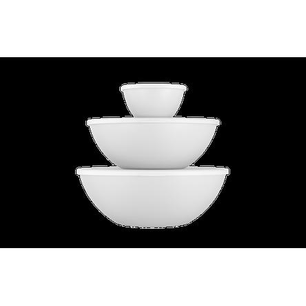 Conjunto Essencial 3 Potes com Tampa Branco
