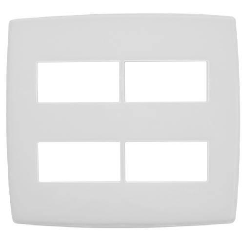 Conjunto Pial Plus 618514 4x2 com Placa 2 Módulos Separados