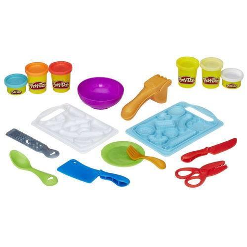 Conjunto Play Doh Moldar e Fatiar B9012 - Hasbro