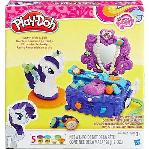 Conjunto Play-doh My Little Pony Penteadeira Rarity Hasbro
