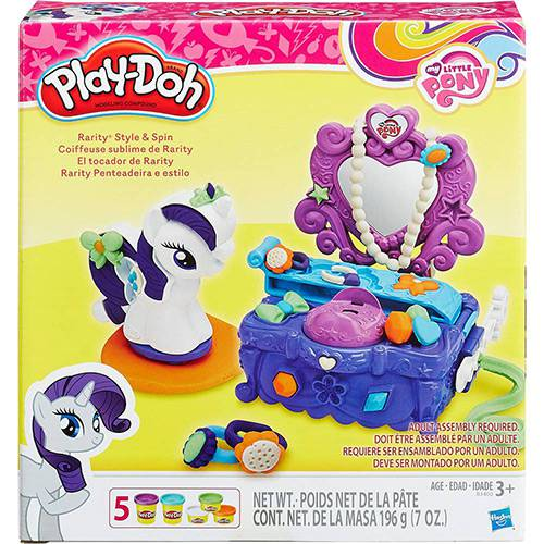 Conjunto Play-Doh My Little Pony Penteadeira Rarity - Hasbro