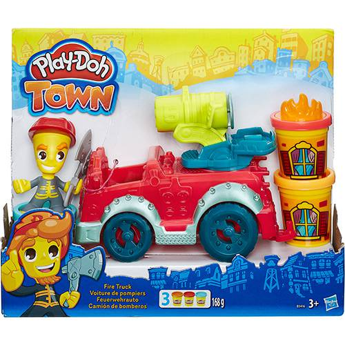Conjunto Play-Doh Town Carro de Bombeiro - Hasbro