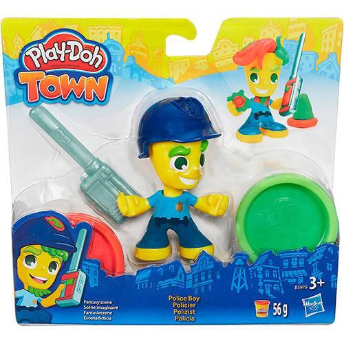 Conjunto Play-Doh Town com Figura Polícia - Hasbro