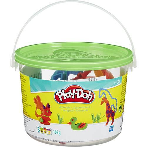 Conjunto Playdoh Mini Balde Animais - Hasbro