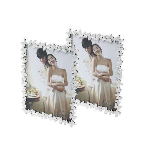 Conjunto 2 Porta-retrato Butterfly Branco - 13x18 Cm - Prestige