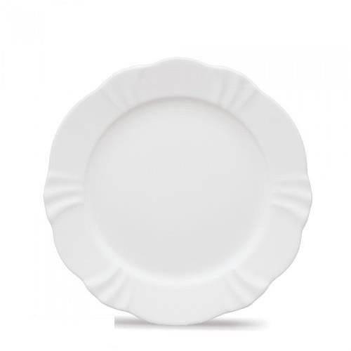 Conjunto Pratos de Sobremesa Soleil White 6 Peças - Oxford