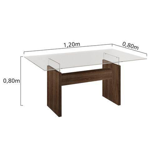 Conjunto Sala de Jantar Mesa Evidence 4 Cadeiras Classic Cel Móveis Malbec/ Suede Pena 84