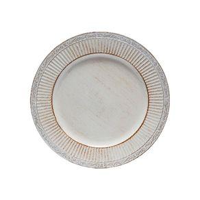 Conjunto Sousplats Plástico 33cm com 6 Peças Branco 30177 Bon Gourmet