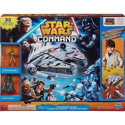 Conjunto Star Wars Command Millennium Falcon Hasbro