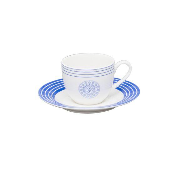 Conjunto Xícara de Café e Píres de Porcelana 90ml Halden