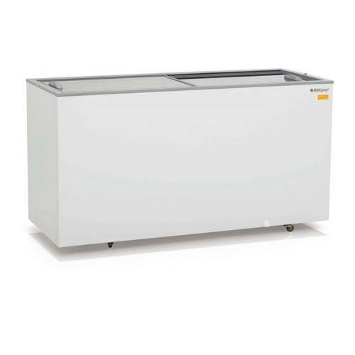 Conservador/Refrigerador Plano Vidro Reto Desliz Dupla Ação Ghde-510 - Gelopar