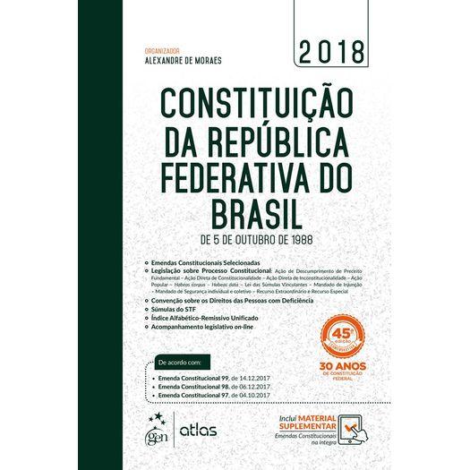 Constituicao da Republica Federativa do Brasil - Atlas - 45ed
