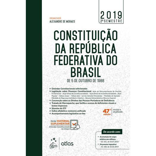 Constituicao da Republica Federativa do Brasil - 2 Semestre - Atlas