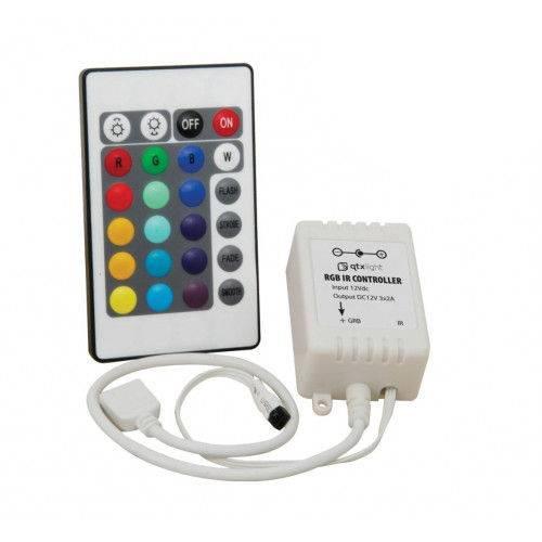 Controladora Ir Fita Led Rgb 3528 e 5050 + Controle 24 Tecla - Controladora