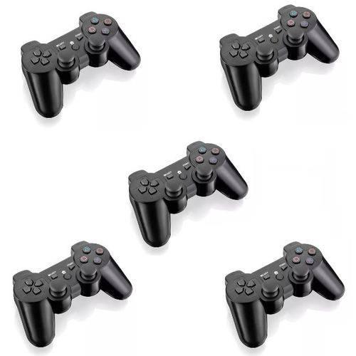 Controle Barato Joystick Ps2 Playstation 2 Vibra - Kit com 5