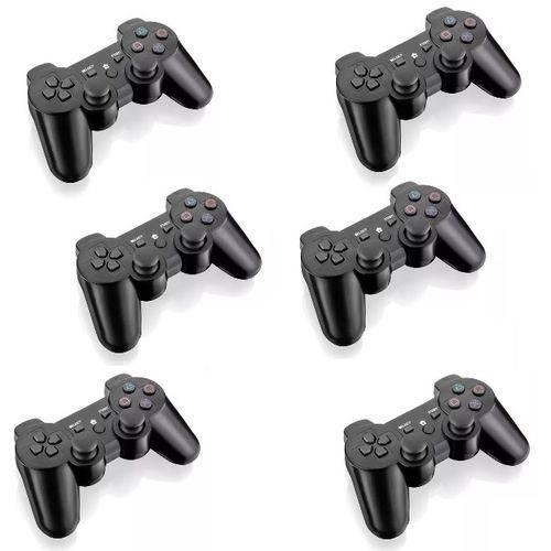 Controle Barato Joystick Ps2 Playstation 2 Vibra - Kit com 6