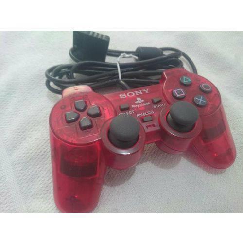 Controle Dualshock 2 Ps2 Sony Vermelho com Fio