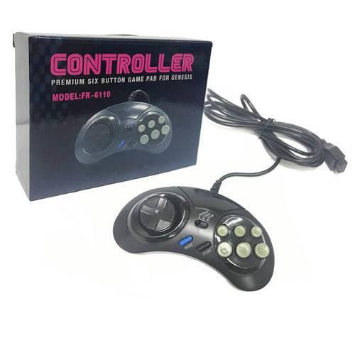Controle Joystick com Fio de 170 Cm Turbo com 6 Botões para Mega Drive e Genesis Feir Fr-6110