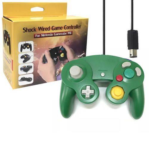 Controle Joystick com Interface para Nintendo Game Cube Nintendo Wii e Wiiu Feir Gf-5101 Verde