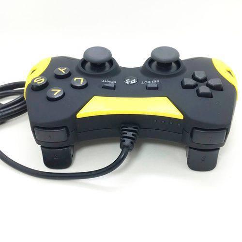 Controle Joystick Ps3 e Pc com Fio Ps3 Dualshock Playstation