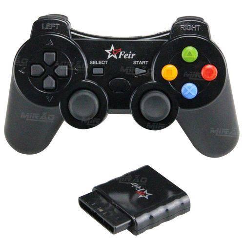 Controle Joystick Sem Fio para Ps1 Ps2 Wireless - Fr-212