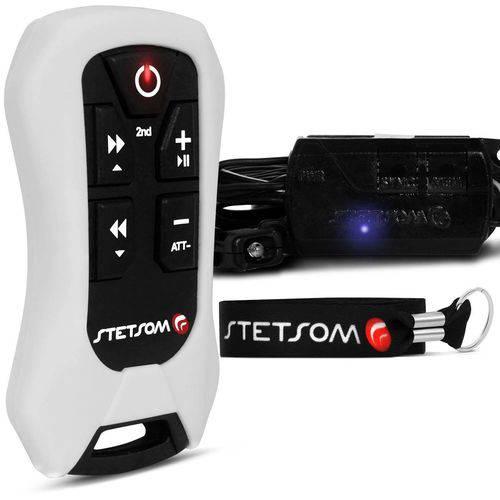 Controle Longa Distância Stetsom Sx4 Alcance Control 200 Metros Branco Indicador Bateria Som Dvd