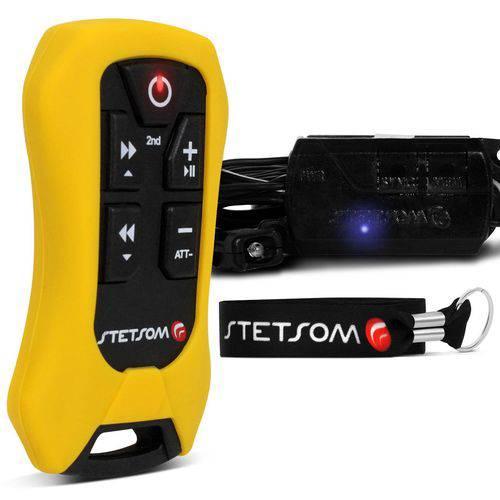 Controle Longa Distância Stetsom SX4 Control Alcance 200 Metros Amarelo Indicador Bateria Som DVD