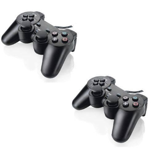 Controle Manete Joystick Ps2 Playstation 2 Vibra - Kit com 2