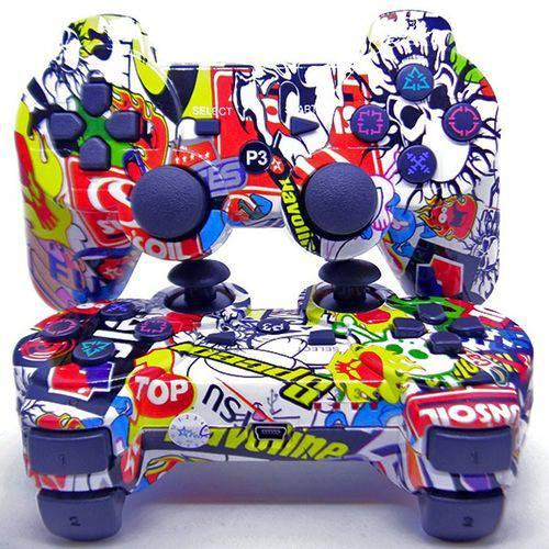 Controle para Playstation 3 Sem Fio Ps3 Estampado