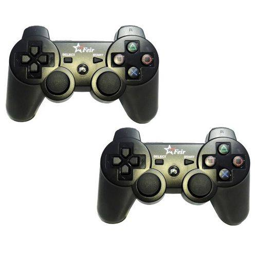 Controle Playstation 3 Sem Fio Joystick Ps3 Dualshock - 2un