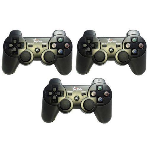 Controle Playstation 3 Sem Fio Joystick Ps3 Dualshock - 3un