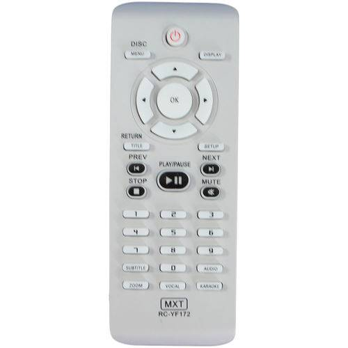 Controle Remoto DVD Philips RC-YF172