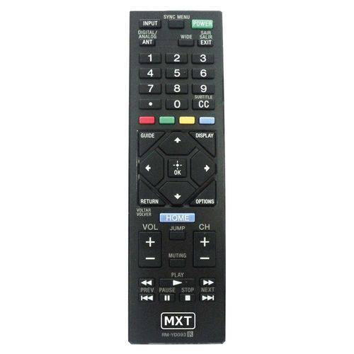 Controle Remoto Mxt 1297 Tv Sony Tv Led Sony Bravia Rm-yd093