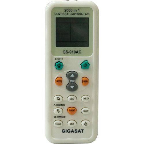 Controle Remoto para Ar Condicionado Universal Gigasat