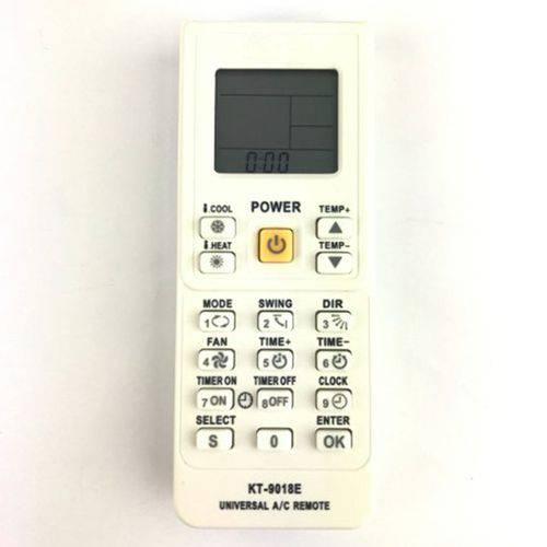 Controle Remoto para Ar Condicionado Universal Kt-9018e